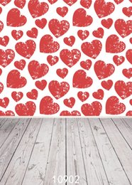 Discount custom photography prop - SHENGYONGBAO Art Cloth Custom Photography Backdrops Prop Valentine's day Theme Photography Background 10902