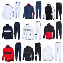 High Quality Embroidery Australia - Fashion devise Men's Tracksuits Golden embroidery Jogger sportswear 2pcs Outdoor Sport Suit Mens Brand Clothing High Quality New Hot For man
