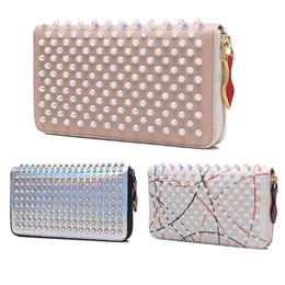 Zipper Spikes Australia - hotsale Fashion classic Designer Luxury Handbags purses for women Fashion designer Clutch Bags Zipper Leather with spike rivet Party