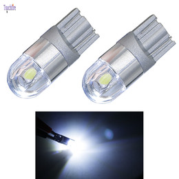 Tube Lights Wholesale NZ - 10pcs t10 canbus 3LED w5w 3030smd 180LM Bulb Tube Auto Wedge Car lights AC 12v Width Interior Signal Brake fog Car Styling