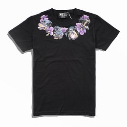 Chinese  2019 brand Mens Clothing Men neckline Flowers Hound Dog printing T Shirt Short Sleeve Men hunter Tshirt Fashion Tee S-XL manufacturers