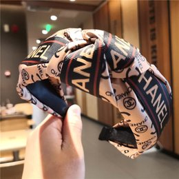 Wholesale FREE DHL Hair Bands for Women Bow Knot Hairband Solid Cross Knot Women Hair Head Hoop Korea Simple Sweet Girls Headband Accessories