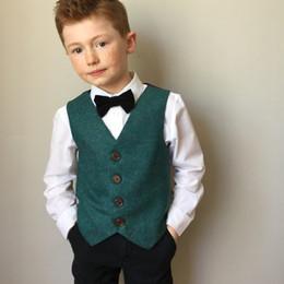 $enCountryForm.capitalKeyWord Canada - Green Kids Designer Clothes V Neck Boy's Vest For Wedding Custom Made Fashion Party Formal Wear