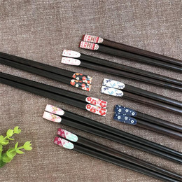 chinese gift chopsticks 2019 - Reusable Wooden Chopsticks Japanese Chopstick Kids Chop Sticks Sushi Sticks Children Chinese Gift A Best Gift For Family