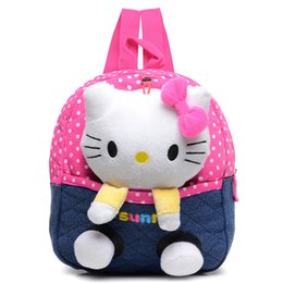Wholesale Cyjmydch hello kitty Plush backpack toy bear children backpack Girls Dolls Stuffed Toys Baby School Bags Kids Baby Bags mochila