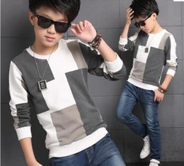 $enCountryForm.capitalKeyWord Australia - Autumn T Shirt For Boy Children Clothing Plaid Casual Teenager Long Sleeve Tops Kids Tees Clothes 5 6 7 8 9 10 11 12 13 14 Years