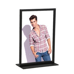 $enCountryForm.capitalKeyWord UK - Stainless Steel Metal Photo Frame A4 A3 Metal Poster Display Stand Advertising Label Holder Rack Restaurant Table Menu Stand
