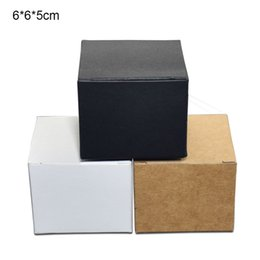 $enCountryForm.capitalKeyWord Australia - 6*6*5cm 3 Colored Jewelry Paperboard Packaging Boxes Kraft Paper Face Cream Bottle Box 50pcs lot Foldable Catton Craft Paper Packing Box