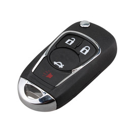 $enCountryForm.capitalKeyWord Australia - Car Styling 4 Buttons Flip Folding Key Shell For Chevrolet Cruze Aveo Uncut Blade HU100 Remote Key Fob Case