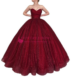 $enCountryForm.capitalKeyWord Australia - 2019 Burgundy Shining Sequins Evening Dresses Sweetheart A Line Empire Waist Corset Back Formal Occasion Prom Party Dresses Custom Made