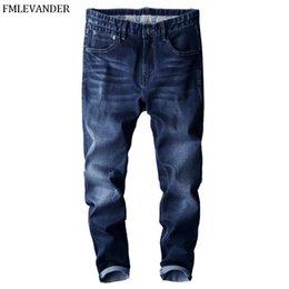 44 Pants Australia - New 2019 Plus Size 44 46 Pure Color Denim Slim Fit Pants Men Brand Skinny Jeans Homme Jean hombre