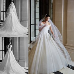 $enCountryForm.capitalKeyWord Australia - 2019 Elie Saab Wedding Dresses Off Shoulder Backless Bridal Gowns Sleeveless robe de mariee Delicate Lace Country Wedding Dress Cheap