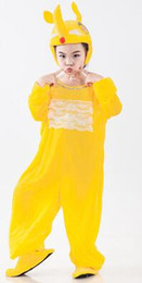 Discount red bird costume - 2019 New style children cosplay Yellow Bird Bee Fox yellow series Animal perform clothing Boys and girls clothes