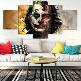 $enCountryForm.capitalKeyWord Australia - 2019 Joker Art Canvas Posters Home Decor Wall Art Framework 5 Pieces Paintings For Living Room HD Prints Movie Pictures