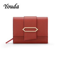 Discount passport ticket holders - Youda New Original Design Short Wallet Fashion Purse Women's Card Package Ticket Holder Classic Style Large Capacit