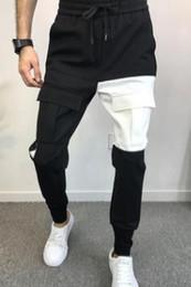 Designer Pant Trousers Australia - Mens Stylish Designer Pants Pockets Designer Pencil Pants Elastic Waist Long Trousers Jogger Pants