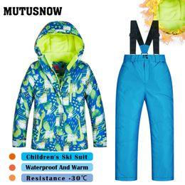 $enCountryForm.capitalKeyWord Australia - MUTUSNOW Boys Ski Suit New Children's Brands High Quality Windproof Waterproof Snow Super Warm Child Winter Thicken Snowboarding Suit LVXQ