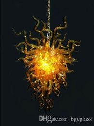 $enCountryForm.capitalKeyWord Australia - India Gold Colored Modern Crystal Blown Glass Chandelier Amazing Blown Murano Glass Hotel Lobby Craft Pendant Crystal Art Chandelier Light