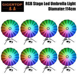 $enCountryForm.capitalKeyWord NZ - TIPTOP 8 units 75cm Long LED Umbrella RGB 3IN1 DMX512 for club Sound Activated Disco Stage Light Rainbow color chasing fade color changing