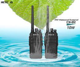 Ham radios online shopping - 2pcs DMR Retevis RT81 W Digital Walkie Talkie IP67 Waterproof UHF VOX Long Range Way Radio Amador Ham Radio Hf Transceiver