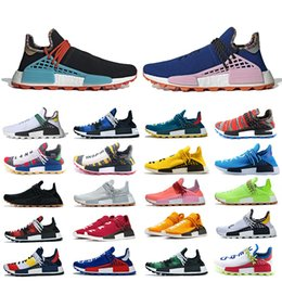 elastic cream NZ - New Classic Human Race Hu Trail PW Running Shoes Pharrell Williams Digijack Pack BBC Cream Nerd Know Soul Women Mens Trainer Sports Sneakers