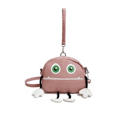 $enCountryForm.capitalKeyWord Australia - New harajuku Girl Funny 3D Cartoon Monster Messenger Bag Women's Originality Many teeth Handbags