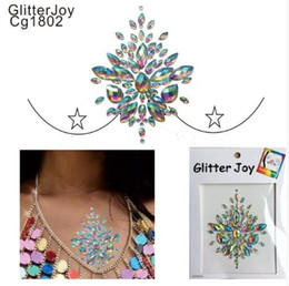 gem quality Australia - CG1806 1Pc Good Quality Resin Breast Bling Gem Cluster Self Adhesive Stick On Jewels Body Paint Decor at Party,Clubing