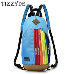 5cd5631bc5 2019 Spring New Cool Rainbow Zipper Small Backpack Fashion Travel Teenager Boys  Girls Chest Bags Crossbody Bags For Women HB088