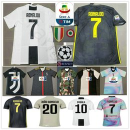 ef3c08cf0 RONALDO JUVENTUS Soccer Jerseys 2019 RONALDO  7 BUFFON 10 DYBALA MANDZUKIC  Custom 19 20 Home Away Third Men Women Kids Youth Football Shirt