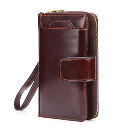 $enCountryForm.capitalKeyWord UK - New Leather Wallet Man Hand Take Zipper Package Restore Ancient Ways Wax Oil Cowhide Mobile Phone Package 2019 Head Layer Genuine Leather