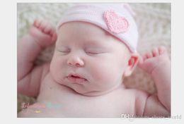 Cotton Knit Baby Bonnets Australia - 2019 0-6M Cotton Heart Beanie For Infants Soft Baby Boy Girl Hats Cap Children Knitting Hats Maternity Warm Beanie Winter Baby Bonnet