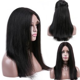 Malaysia hair lace wig online shopping - Straight Density Lace Front Human Hair Wigs With Baby Hair Hand Seam Malaysia Hair Lace Front Wig Pre Plucked