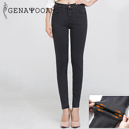 Washed Black Stretch Skinny Jeans Australia - High Quality 6XL Plus Size Denim Jeans Women Push Up Black High Waist Jean Women Spring Summer 2019 Stretch Jeans Pencil Pants Skinny