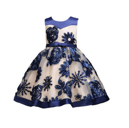 Discount brands tutu for kids - Kids Flower Girls Dress Wedding Tulle Flower Dress Elegant Princess Party Pageant Formal Gown for Toddler Children Party