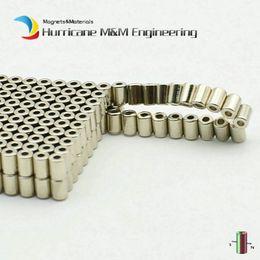 $enCountryForm.capitalKeyWord Australia - 200pcs Ndfeb Magnet Ring Dia. 2.6x1.3x3.6 Mm Tube Diametrically Magnetized N42 Strong Rotor Neodymium Permanent Sensor Magnets