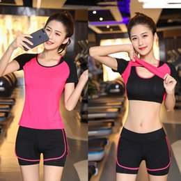 f7d2d2c2b6fe9 Yoga modals online shopping - women s short sleeved yoga clothes suit  summer new fitness clothes
