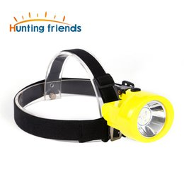 mining hunting lights 2020 - 100pcs lot Hunting Friends Safety Mining Lamp Rechargeable Headlamp Miners LED Coon Hunting Lights KL2.8LM Waterproof Ca