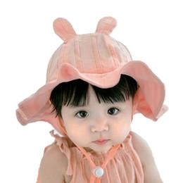 1685a699a27 Baby Bucket Hat Outdoor Fisherman Hats For 2019 Spring Summer Kids Big Wave  Brim Rabbit Ear Cap Girls Beach Hat Caps Chapeu MZ7221