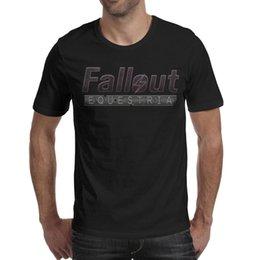 Background Prints Australia - Mens T-Shirt-Fallout Logo Background Classic Breathable Short-Sleeve Crewneck Cotton Tee Tops