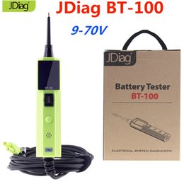 Discount test battery cables JDiag BT-100 Vehicle Electrical Circuit Tester With 10m Extension Cable Test Short Circuit Battery Testers Voltage Range