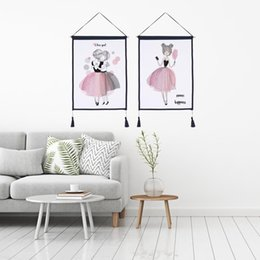 Scroll Paintings Australia - Decor Wall Scroll Hanging Tapestry Fashion Pink princess Hanging Painting,Sofa Background Hanging Cloth,Corridor,Porch,Electric Meter Box