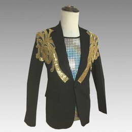 084c4f6d83cf Hot Korean version of the host embroidered suit jacket 2019 new male singer  costumes men's slim suit dress tide