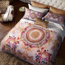 Luxury Egyptian Cotton Australia - Egyptian Cotton Bohemia style Luxury Bedding set Queen King size Boho Duvet cover Silky Bed sheet Bedclothes linen