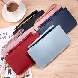 $enCountryForm.capitalKeyWord Australia - Rectangular Coin Purse For Ladies Multifunctional Fashion Wallet In Hand Pure Color High Capacity Moneybag Bardian New Pattern 4pc M1