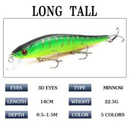 Topwater Fishing Lures Australia - 1pcs 14cm 23.7g Topwater Wobblers 3d Eyes Fishing Lure Minnow Hard Bait Pesca 3 Fish Hooks Crankbait Floating Fishing Tackle