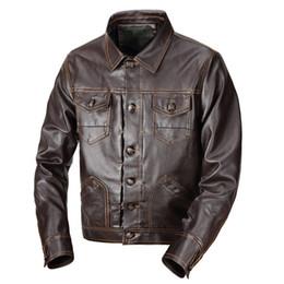 $enCountryForm.capitalKeyWord Australia - Men's leather Jacket design stand collar Coat Men casual motorcycle leather coat Mens Sheepskin jackets Windbreaker Coats