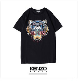 T Shirt Digital Printing Sport Australia - 19ss usa fashion brand kez digital printing T-shirt limited edition round neck breathable lovers wear trend sports T-shirt