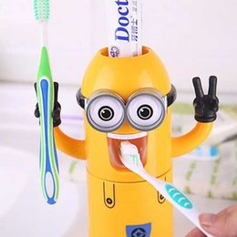 $enCountryForm.capitalKeyWord UK - Children's Cartoon Minion Toothbrush Holder Suit Dental Care For Kids Birthday Gifts For Boys And Girls Christmas Gifts Despicable Me