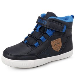 waterproof winter kids shoes NZ - Boys Shoes Boys Winter Waterproof Boots Unisex Kids Sneakers Fashion Children's Mid-top Walking Shoes Fleece Lining Blue