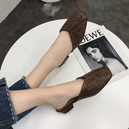 Korean Ladies Canvas Shoes Australia - Summer thick-soled high-heeled shoes ladies slippers comfortable wearing Korean version of simple woven fashion women's shoes.